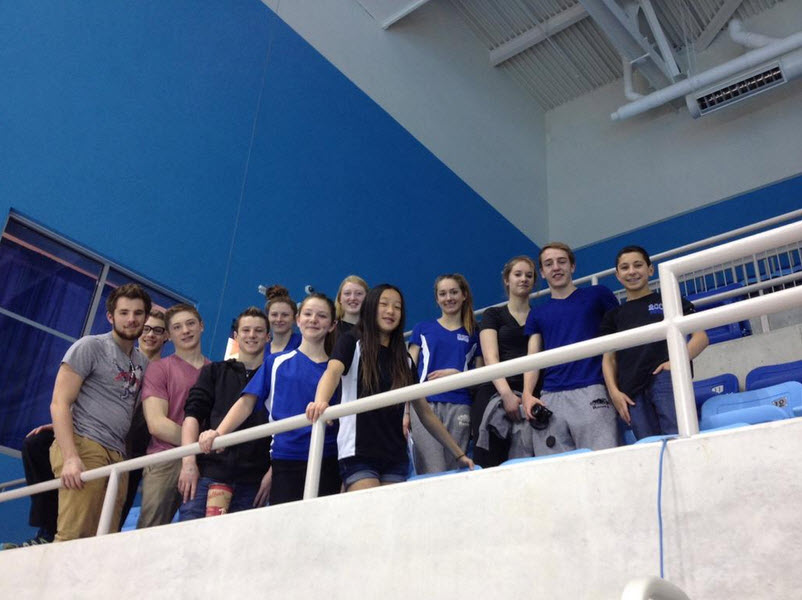 ROC swimmers cheering on Aleena at her bid to make the PanAm Team